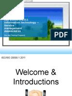 ISO 20000-1 Awareness Training