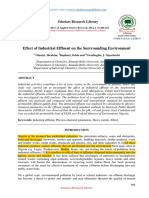 Effect of Industrial Effluent on the Surrrounding Environment