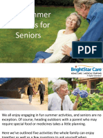 Five Summer Activities for Seniors