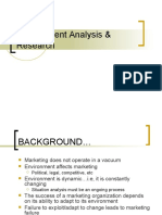 Environment Analysis & Research
