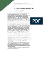 Aspectos sobre el uso de los Salmos en Pablo