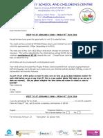 Reception Letter for St Leonards Farm