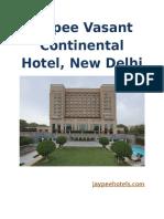 Jaypee Vasant Continental Hotel PDF
