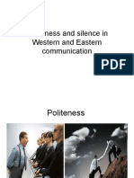 Politeness and Silence in Western and Eastern Communication
