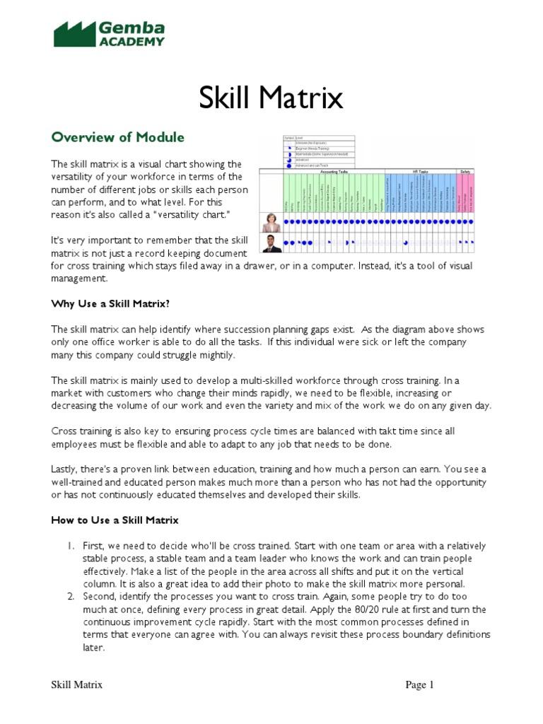 9b Skill Matrix | Employment | Matrix (Mathematics)