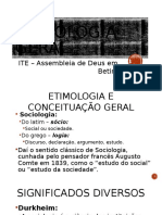 Sociologia Geral - ITE