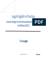 TLS LE inCourse Design for the International Legal English Certificate (ILEC) Practice