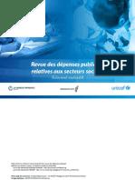 BANQUE MONDIALE – UNICEF, Revue des dépenses publiques relatives aux secteurs sociaux, Antananarivo