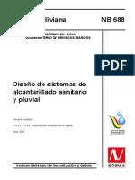 NORMA TECNICA-BOLIVIA; alcantarrillado, sanitaria