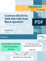 Common BCCH for GSM 900_1800 Dual Band Operation