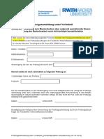 Prüfungsanmeldung unter Vorbehalt_Version 20151006