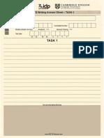 IELTS Writing Answersheet