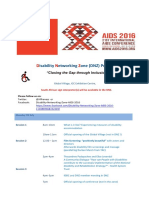 Disability Network Zone Program AIDS 2016 Final Draft June 2016
