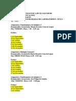 Calendario de Laboratorios. Ciclo 02-2013