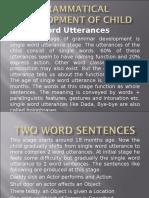 Grammatical Development of Child