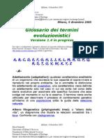 glossario evoluzionistica