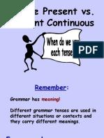 3 a Simple Present vs Present Continuous
