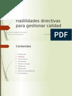 2. Habilidades Directivas Para Gestionar Calidad