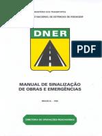 Manual de Sinalização de Obras e Emergências Dnit