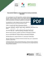 11-07-2016 FINALIZARON PRIMEROS JUEGOS DEPORTIVOS RURALES MONTERÍA ADELANTE.