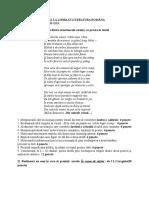 LUCRARE SCRISĂ LA LIMBA ŞI LITERATURA ROMÂNA PE SEMESTRUL AL II. clasa a XI+a