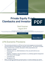 Private Equity Funds Clawbacks and Investor Givebacks