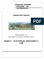 EE6411 Electrical Machines - 1 Lab Manual