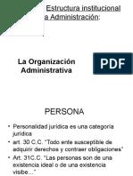 Estructura Institucional de la administración