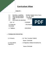 Curriculum VITAE Estrellita