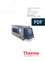 Manual para detector de metales Thermo Scientific (Thermo Scientific APEX Metal Detector User's Guide)