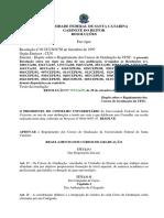 Res 17-CUn-1997 Regulamento Dos Cursos de Garduação Da Ufsc