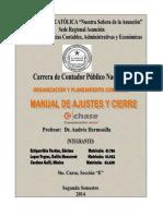 4. Manual de Ajustes y Cierres Chases.
