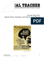 Hip-Hop Fight Club- Radical Theory, Education, And Practice in and Beyond the Classroom