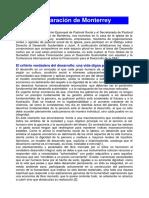 04-Declaracion Monterrey Obispo - Generico