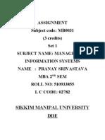 21752811 MB0031 Management Information System