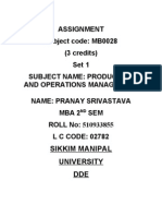Mb0028 Pom Assignment Pranay
