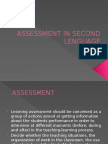Assessment in Second Lenguage