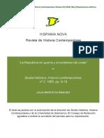 LA REPUBLICA EN GUERRA Y EL PROBLEMA DELPODER