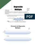 Regresion Y Coeficiente de Correlacion Multiple