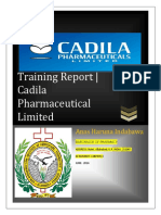 Cadila Industrial Training Report