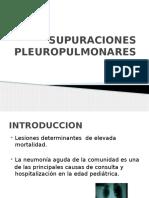 SUPURACIONES PLEUROPULMONARES