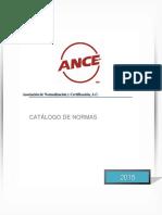 Catalogo Normas ANCE