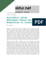 Modernitas vs Tradisi