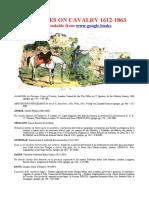 Online Treatises on Cavalry. 1612-1863.