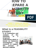 How to Prepare a Feasibility Study