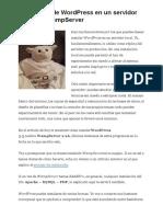 Instalación de WordPress Con WampServer