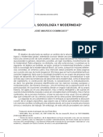 Historia Sociologia y Modernidad Desarrollo