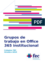Procedimiento Relativo a Los Grupos de Trabajo en Office 365 Institucional