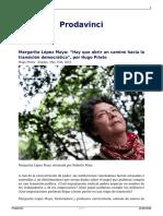 Margarita Lopez Maya Hay Que Abrir Un Camino Hacia La Transicion Democratica Por Hugo Prieto