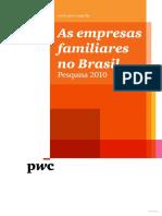 Empresas Familiares No Brasil - Pesquisa PWC 2010